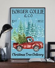 Border Collie Christmas Tree Delivery 11x17 Poster lifestyle-poster-2