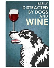 Dog Border Collie And Wine 11x17 Poster front
