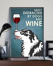Dog Border Collie And Wine 11x17 Poster lifestyle-poster-2