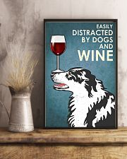 Dog Border Collie And Wine 11x17 Poster lifestyle-poster-3
