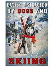 distracted husky and skiing 11x17 Poster front