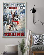 distracted husky and skiing 11x17 Poster lifestyle-poster-1
