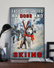 distracted husky and skiing 11x17 Poster lifestyle-poster-2