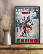 distracted husky and skiing 11x17 Poster lifestyle-poster-3
