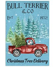 Bull Terrier Christmas Tree Delivery 11x17 Poster front