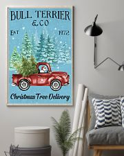 Bull Terrier Christmas Tree Delivery 11x17 Poster lifestyle-poster-1