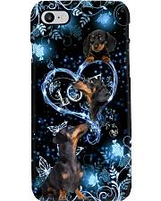dachshund flower dark Phone Case i-phone-8-case