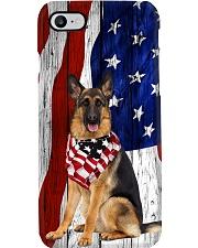 German Shepherd Usa Flag Phone Case i-phone-8-case