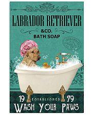 Dog Labrador Retriever Bath Soap 11x17 Poster front
