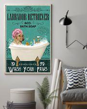Dog Labrador Retriever Bath Soap 11x17 Poster lifestyle-poster-1