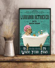Dog Labrador Retriever Bath Soap 11x17 Poster lifestyle-poster-3