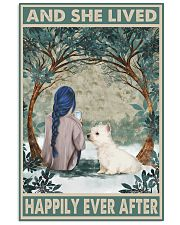 Westie Happily Ever After Blue 11x17 Poster front