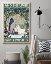 Westie Happily Ever After Blue 11x17 Poster lifestyle-poster-1