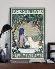 Westie Happily Ever After Blue 11x17 Poster lifestyle-poster-2