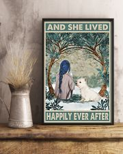 Westie Happily Ever After Blue 11x17 Poster lifestyle-poster-3