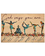 Yoga - God Says You Are Horizontal Poster tile