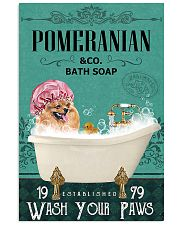 Dog Pomeranian Bath Soap 11x17 Poster front