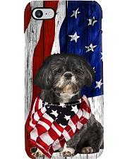 Black Shih Tzu Usa Flag Phone Case i-phone-8-case