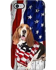 Basset Hound Usa Flag Phone Case i-phone-8-case