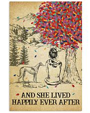 Greyhound She Lived Happily 11x17 Poster front