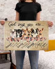 chihuahua - god says 24x16 Poster poster-landscape-24x16-lifestyle-20