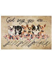 chihuahua - god says Horizontal Poster tile
