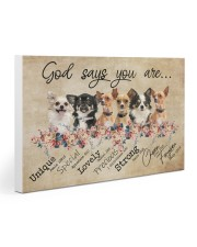 chihuahua - god says Gallery Wrapped Canvas Prints tile