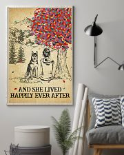 Husky She Lived Happily 11x17 Poster lifestyle-poster-1