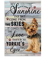 Yorkie Comes From The Love 11x17 Poster front