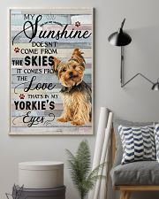 Yorkie Comes From The Love 11x17 Poster lifestyle-poster-1