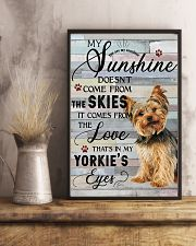 Yorkie Comes From The Love 11x17 Poster lifestyle-poster-3
