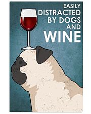 Dog Pug And Wine 11x17 Poster front