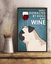 Dog Pug And Wine 11x17 Poster lifestyle-poster-3