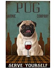 pug serve yourself 11x17 Poster front