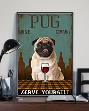pug serve yourself 11x17 Poster lifestyle-poster-2