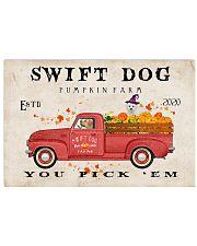 swift dog pumpkin farm Horizontal Poster tile