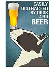 Bull Terrier and beer 11x17 Poster front