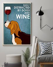 Dog Beagle And Wine 11x17 Poster lifestyle-poster-1