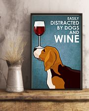 Dog Beagle And Wine 11x17 Poster lifestyle-poster-3