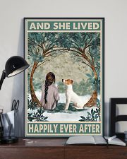 Jack Russell Happily Ever After Dark Brown 11x17 Poster lifestyle-poster-2
