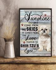 Shih Tzu Comes From The Love 11x17 Poster lifestyle-poster-3
