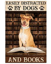 Tan Staffordshire Dogs And Books 11x17 Poster front
