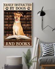 Tan Staffordshire Dogs And Books 11x17 Poster lifestyle-poster-1