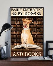 Tan Staffordshire Dogs And Books 11x17 Poster lifestyle-poster-2