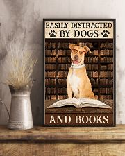 Tan Staffordshire Dogs And Books 11x17 Poster lifestyle-poster-3