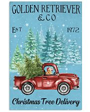 Golden Retriever Christmas Tree Delivery 11x17 Poster front