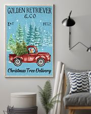 Golden Retriever Christmas Tree Delivery 11x17 Poster lifestyle-poster-1