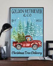 Golden Retriever Christmas Tree Delivery 11x17 Poster lifestyle-poster-2