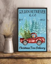 Golden Retriever Christmas Tree Delivery 11x17 Poster lifestyle-poster-3