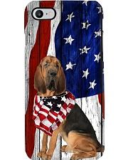 Bloodhound Usa Flag Phone Case i-phone-8-case